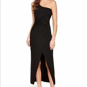 Prom Black one shoulder dress with slit